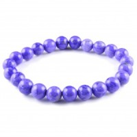 Crystals Australia Wholesale Jewellery Bead Bracelet howlite purple