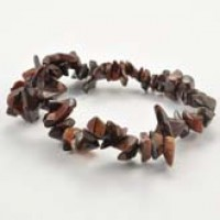 Crystal Chip Bracelet Tiger Eye Red