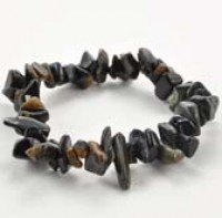 Chip Bracelet Tiger Eye Blue