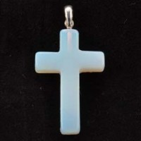 Wholesale Crystals and Stones Jewellery Crystal Pendant Cross Opalite