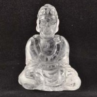 Crystals Wholesale Australia Crystal Sitting Buddha Carving Clear Quartz