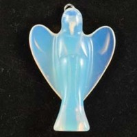 Wholesale Rocks and Crystals Crystal Angel Pendant Opalite