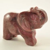 Wholesale Crystals Stones Crystal Carving Elephant Rhodonite