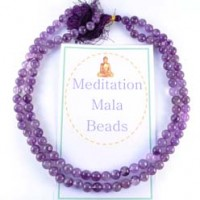 Wholesale Tumbled Stones Crystal Meditation Mala Beads Amethyst