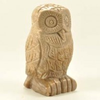 Crystals and Stones Wholesale Crystal Carving Owl Petrified Wood