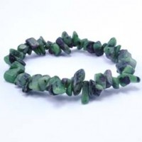 Tumbled Stones Wholesale Crystal Bracelet Chip Ruby in Zoisite
