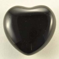 Wholesale Crystals Sydney Polished Crystal Heart Small Obsidian Black