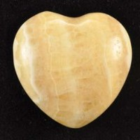 Wholesale Crystals Polished Crystal Heart small Yellow Calcite