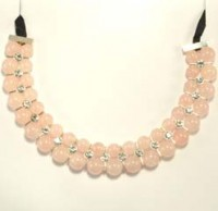 Wholesale Crystals Gold Coast Crystal Bead Necklace Rose Quartz