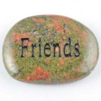 Crystals and Stones Wholesale Crystal Word Stone Friends Unakite