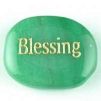 wordstones blessing aventurine green