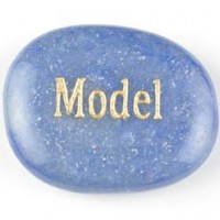 wordstones model aventurine blue