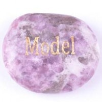 wordstone model lepidolite pink