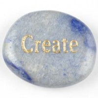 wordstones create aventurine blue