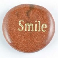 wordstones smile goldstone gold